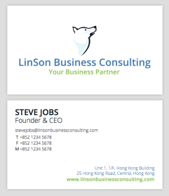 Business Card Design - LinSon Business Consulting