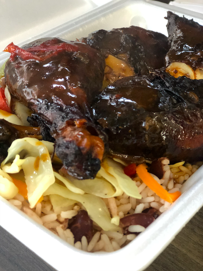 Jamaican Jerk Chicken with Rice and Veggies